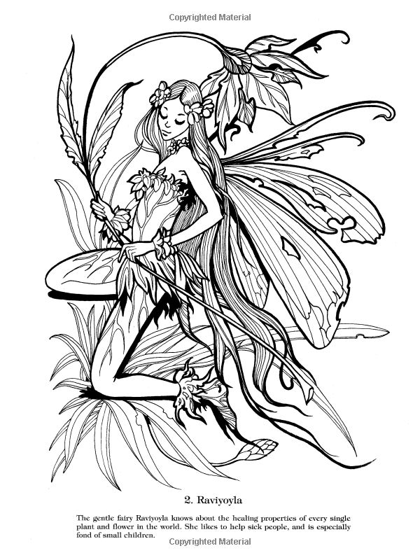 fairies coloring pages book - photo#42