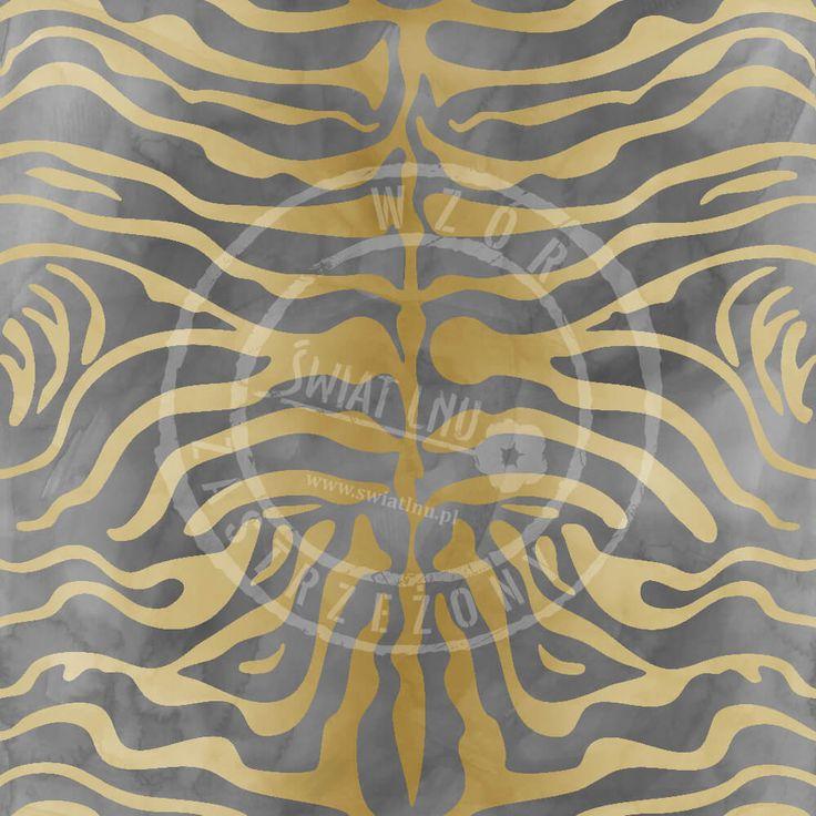 Druk na tkaninach naturalnych: len, bawełna, wiskoza. Autorska kolekcja wzorów jedyna i niepowtarzalna. Zatop się w głębi kolorów. Pracownia Druku - drukujemy również na Twoich tkaninach.  #pracowniadruku #tkaniny #wzory   Wzór Tygrys Syberyjski  TIGER Painted pattern africa
