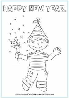 New Year Colouring Pages For Kids