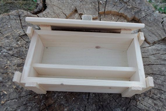 unfinished wood box with lid 20x10x5 cm by hobbywoodromania