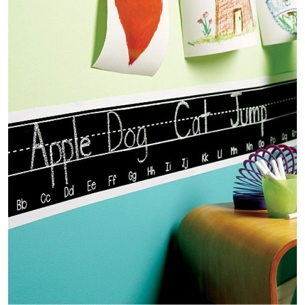 Paint a wall border with chalkboard paint. | 36 Clever DIY Ways To Decorate Your Classroom