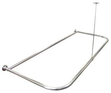 Watts Shower Curtain Rod. Aluminum Shower Curtain Rod 668303BH - contemporary - shower curtains - Home Depot