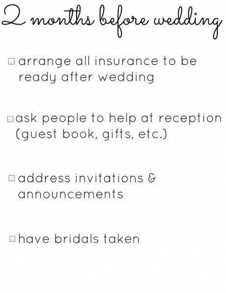 2 Months Before The Wedding Quickweddingplanning Weddingchecklist