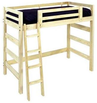 Loft bed - similar to our plan that you can make for less in one day!