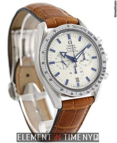 Omega Speedmaster Broad Arrow Chronograph Steel White Dial 42mm 2002 Ref. 3851.20.12 Price On Request