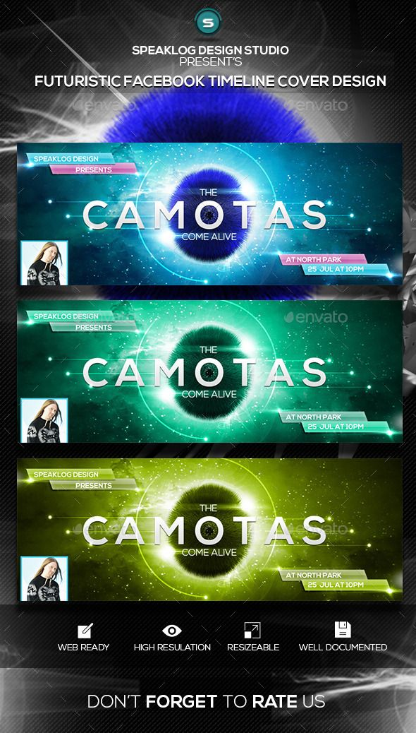 Camotas Futuristic FB Timeline Cover