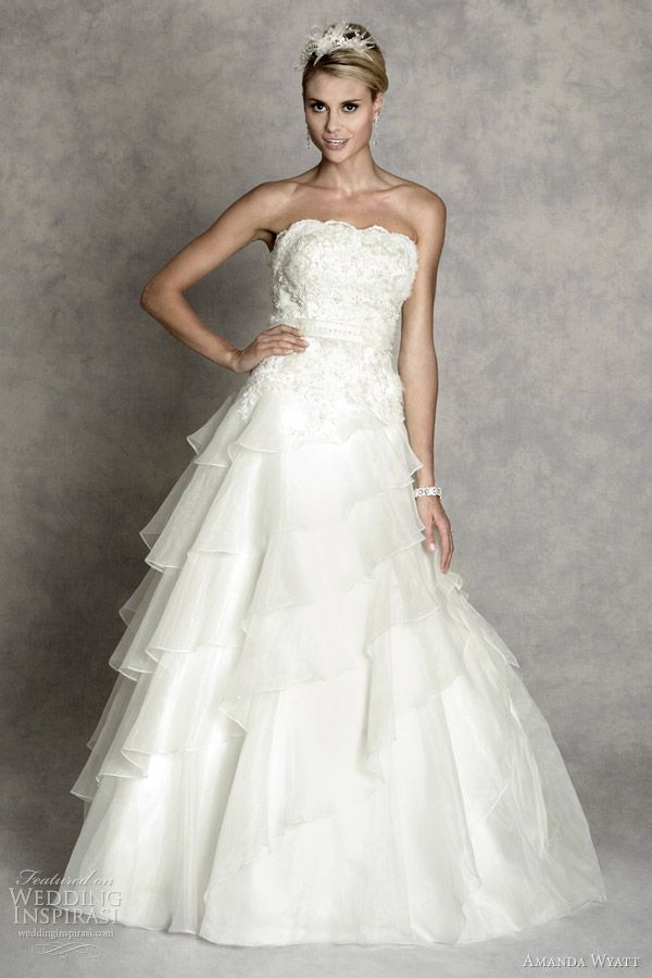 http://weddinginspirasi.com/2012/02/08/amanda-wyatt-wedding-dresses-enchanted-bridal-collection/  amanda wyatt 2012 enchanted collection evita  #weddings #weddingdress #bridal