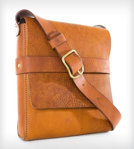 Brown Leather Messenger Bag.