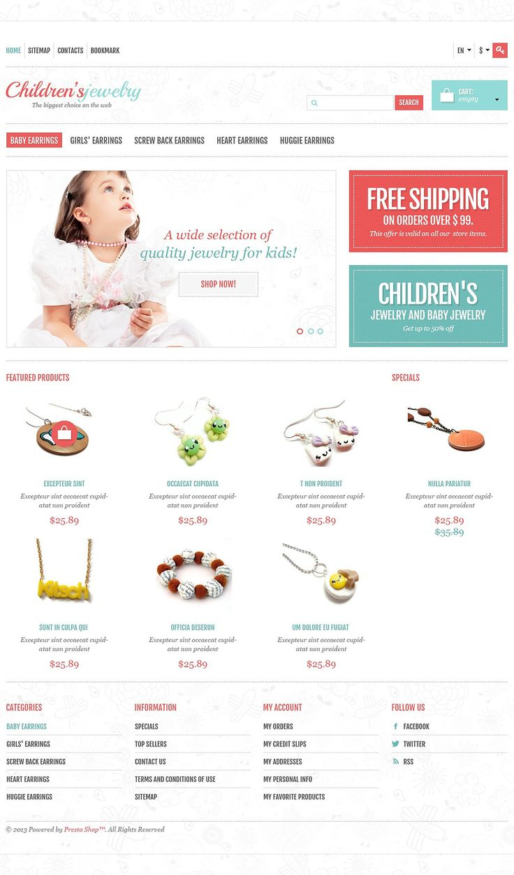 17+ Best Jewelry Store PrestaShop Themes - Childrens Jewelry Store