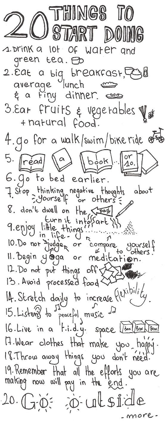 Self care & developing positive coping skills - 20 ideas to get you started