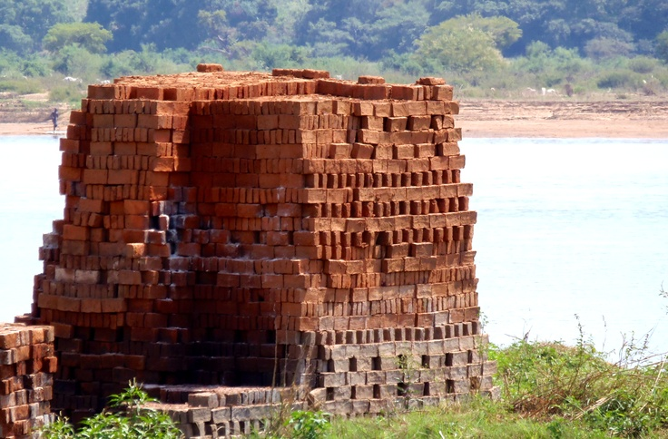 Firing bricks made of laterite soil sand and heat these for Soil is composed of
