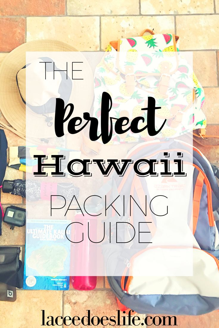 what to take with you to Hawaii