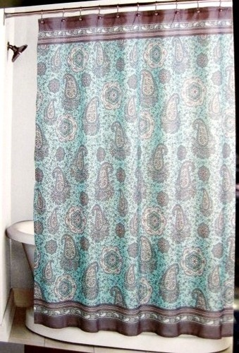 Gallery For Teal And Brown Shower Curtain