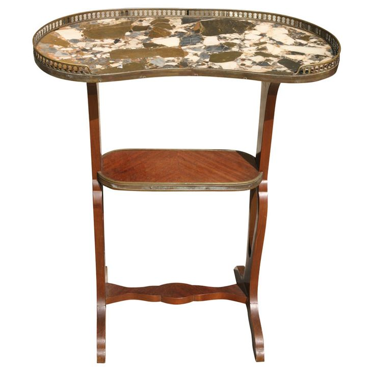 KIDNEY SHAPED END TABLE (I See A Vanity Table Here)!