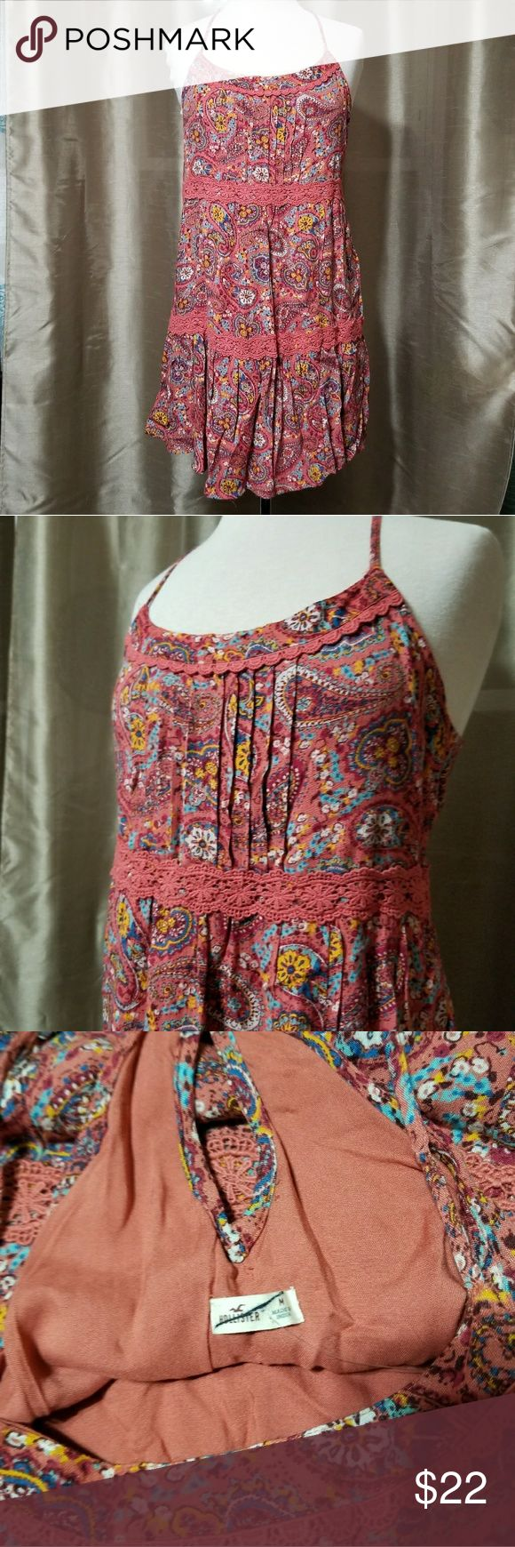 "NWOT Hollister Paisley Women's Sun Dress New without tags. Has adjustable straps.  Flat measurements: Pit to pit: Approx 17"" Length from underarm to bottom: Approx 24.5""  🌹 Remember to bundle 3 items and save! 🌹  *A57 Hollister Dresses"