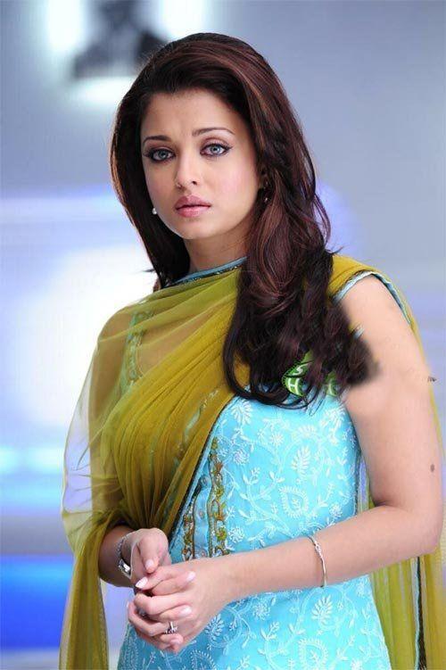 Aishwarya Rai in blue Salwar Kameez