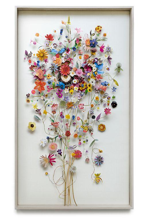 Flower construction #40 (w:70 h:120 d:6.5 cm)