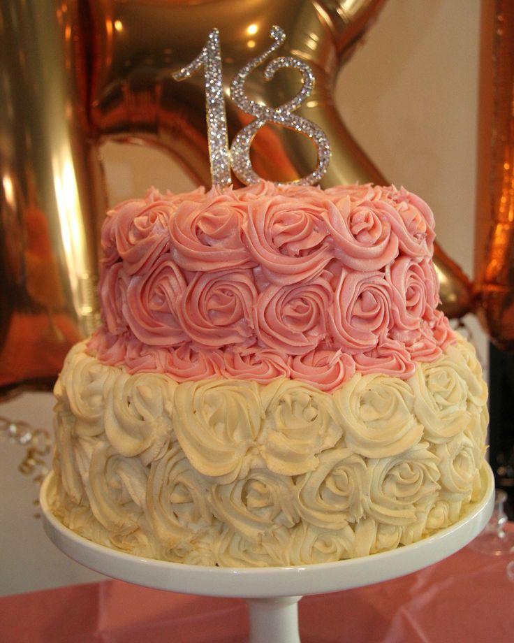 Rosette 2 tier birthday cake