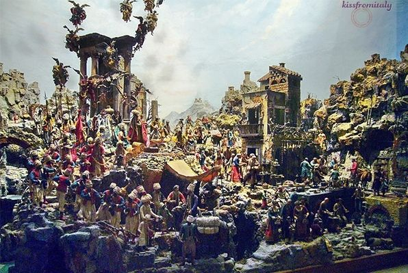 """The Largest Nativity Scene in the world, the """"Presepe Cucinello,"""" in the Museo Nazionale di San Martino - Naples, Italy 