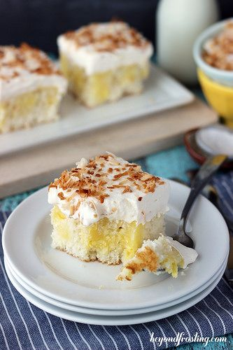 Triple Coconut Poke Cake | beyondfrosting.com | #pokecake #coconut by Beyond Frosting, via Flickr