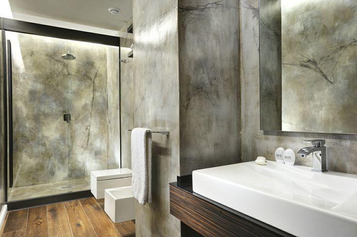 Bagni in resina finto cemento decoro daniela argenti for Bagni in resina immagini