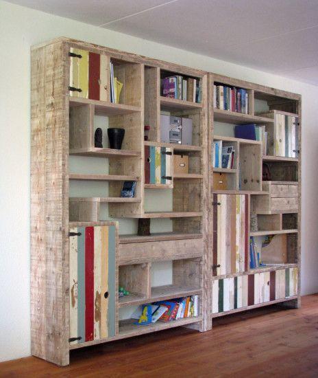 Steigerhout met sloophout kast | designkast met sloophout | op maat gemaakt | sloophout | de Steigeraar