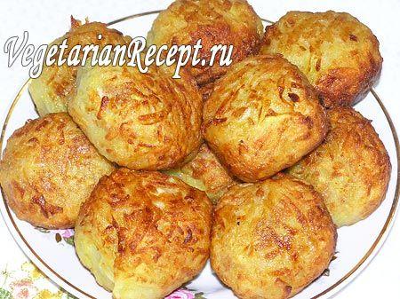 Постные картофельные шарики с соевым фаршем