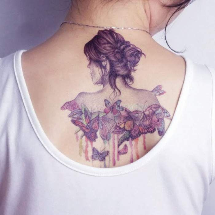 Senarai Harga Hummingbird Flower Watercolor Temporary Tattoo