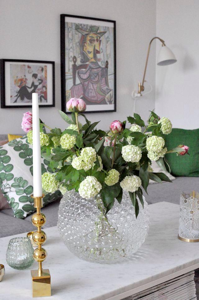 Home of Debbie.nu dendardebbie svenskt tenn dagg tre kulor marmorbord pioner viburnum bestlite gubi