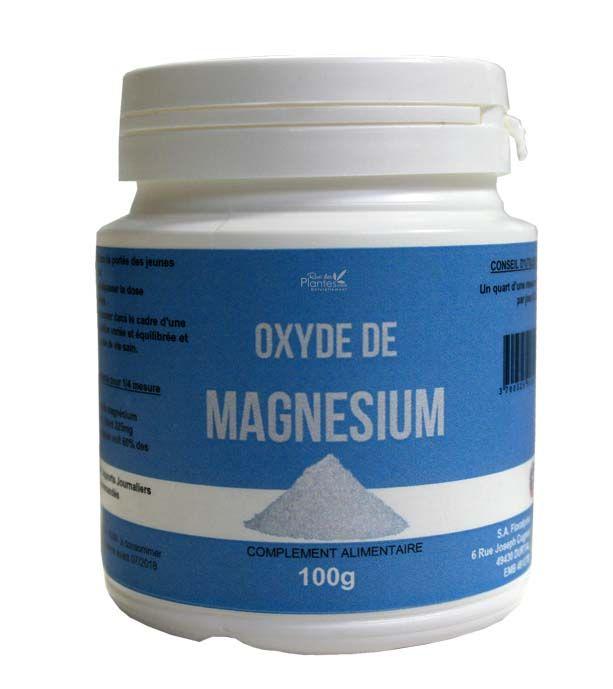 Pot+de+100g+de+poudre+d'oxyde+de+magnésium.+100%+pure