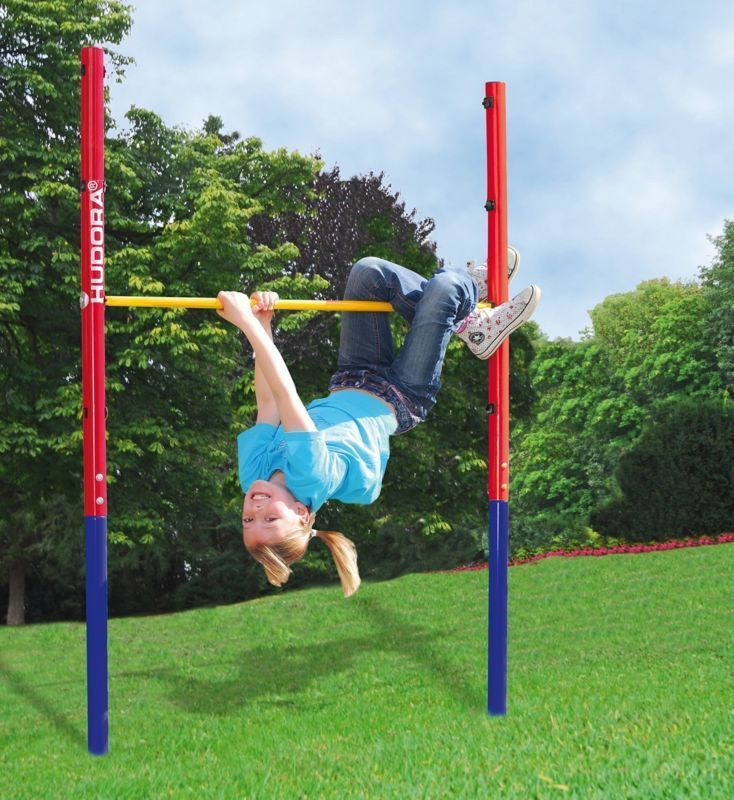 Details About Kids Gymnastic Training Turnreck Horizontal Bar Garden Workout Play Sport Pole