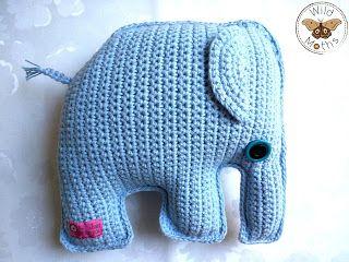 Wildmoths Handcrafted Creations: Blue Elephant