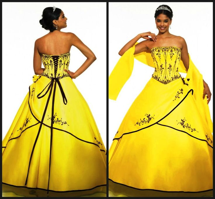 yellow black wedding dress - Hledat Googlem