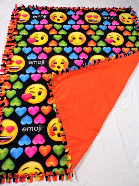 Emoji Party Blanket  Girls Emoji Blanket  Emoji Twin Size