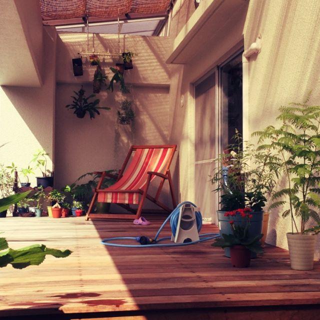 massaさんの、デッキ,観葉植物,outdoor room,部屋全体,のお部屋写真