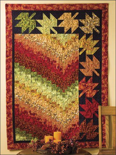 Free Falling Bargello design lap quilt!