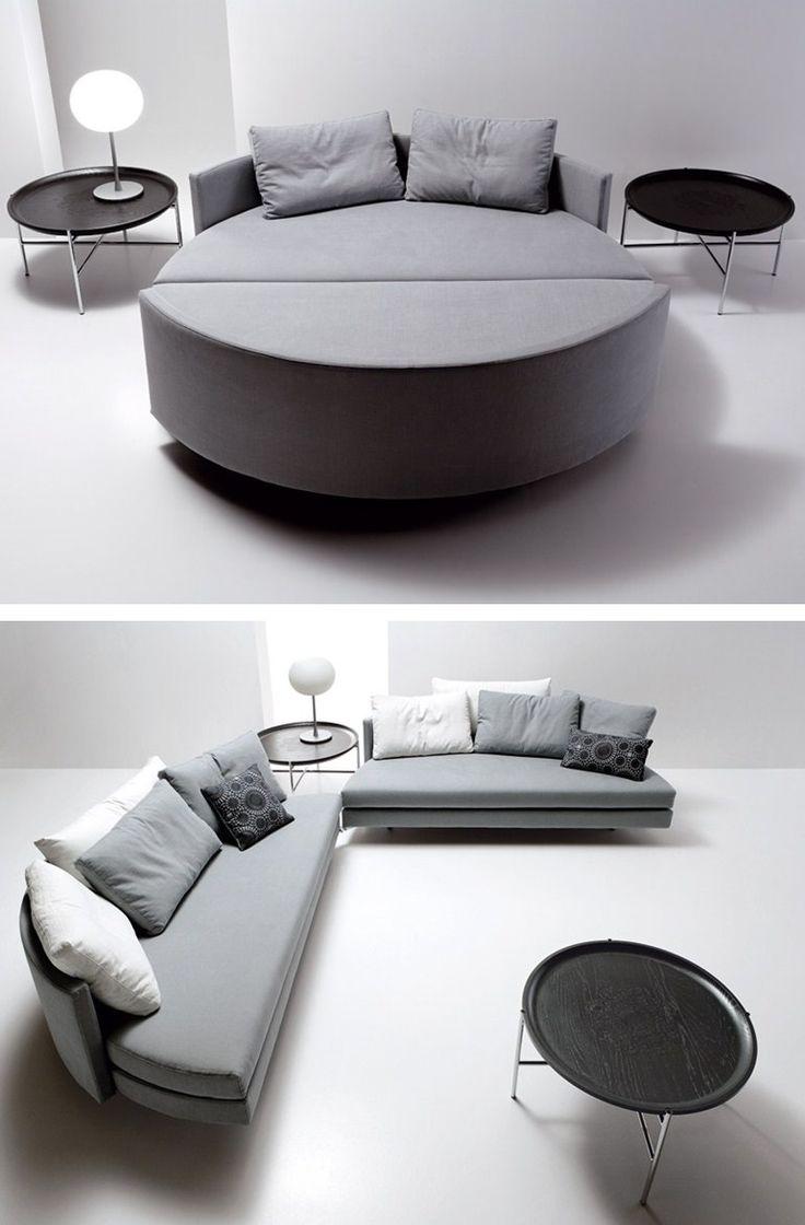 Sofa Bed SCOOP TONDO By Saba Italia Design Guido Rosati