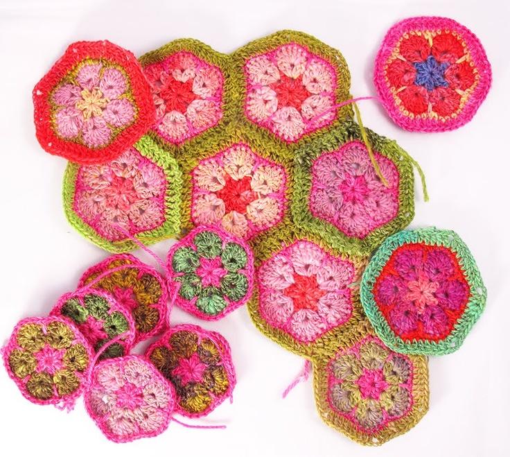 Heidi Bears: African Flower Hexagon Tutorial