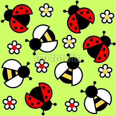 lady bugs & bumble bees