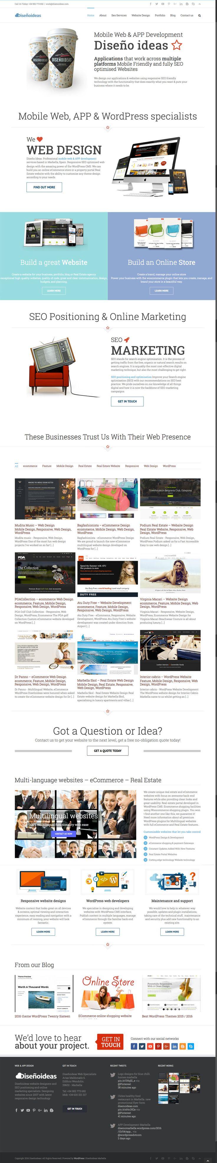 Mobile responsive website designers