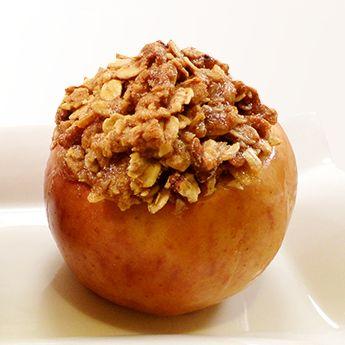 Manzanas al Horno con Avena y Nueces