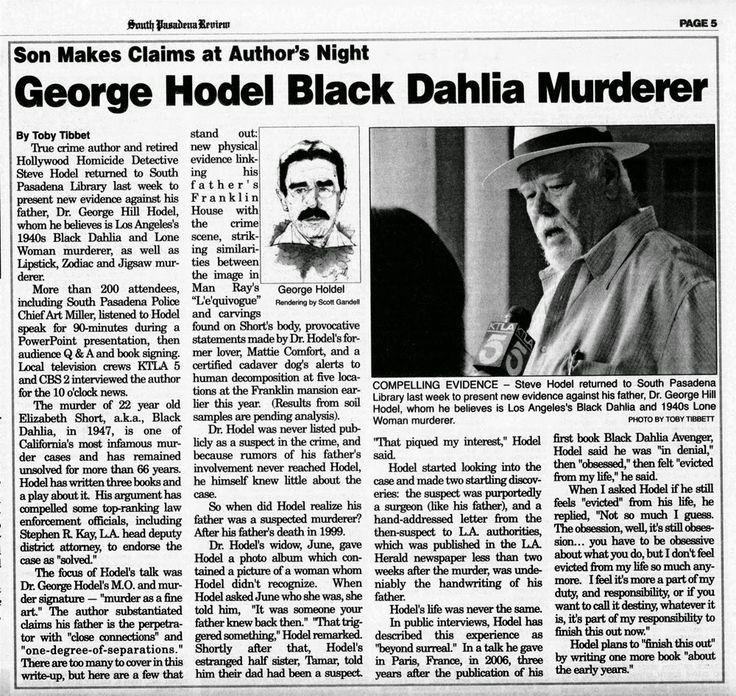 Elizabeth Short | George Hodel in the newspaper