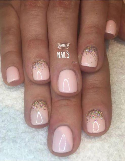 Best 25+ Glitter gel nails ideas on Pinterest