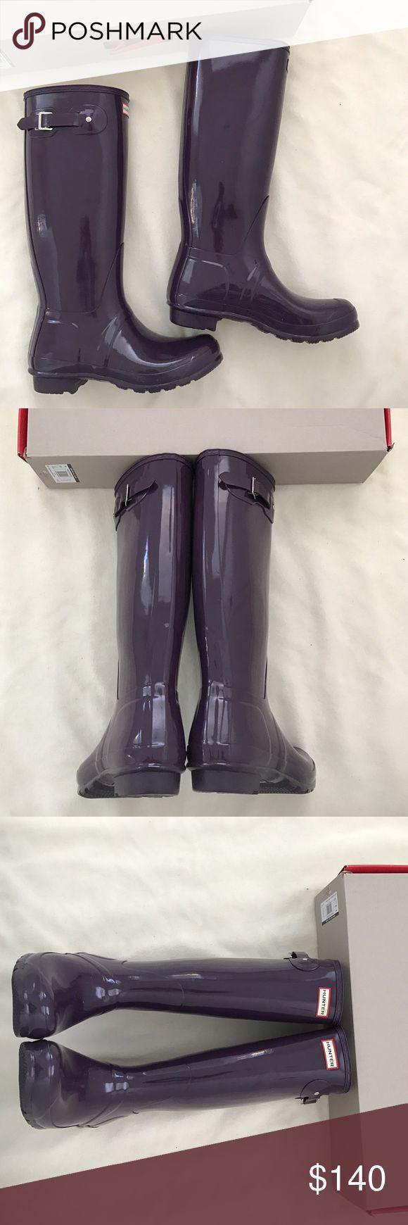 Brand new Hunter glossy rain boots New in box US size 8 Hunter Boots Shoes Winter & Rain Boots