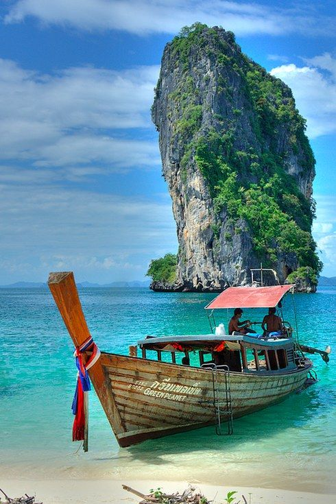 The beach-front views that surround Thailand's Koh Poda Island. | 17 Of The Most Beautiful Travel Destinations Of 2014