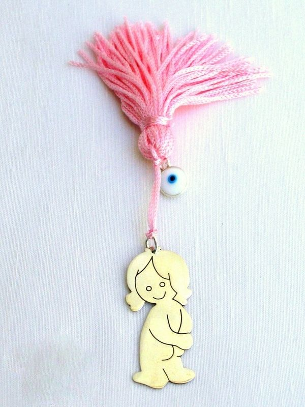handmade lucky charm baby girl by KORMENTZACREATIONS on Etsy