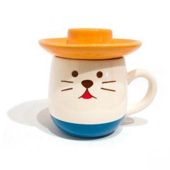 Sombrero cat mug.: Hats, Cup, Cat Themed Products, Cats, Kawaii, Sombrero Cat, Kids Stuff, Cat Mug, Mugs