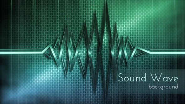 Abstract Metal Sound Wave Backgrounds