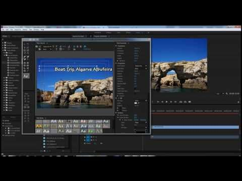 Insert Text in Adobe Premiere Pro Tutorial - YouTube