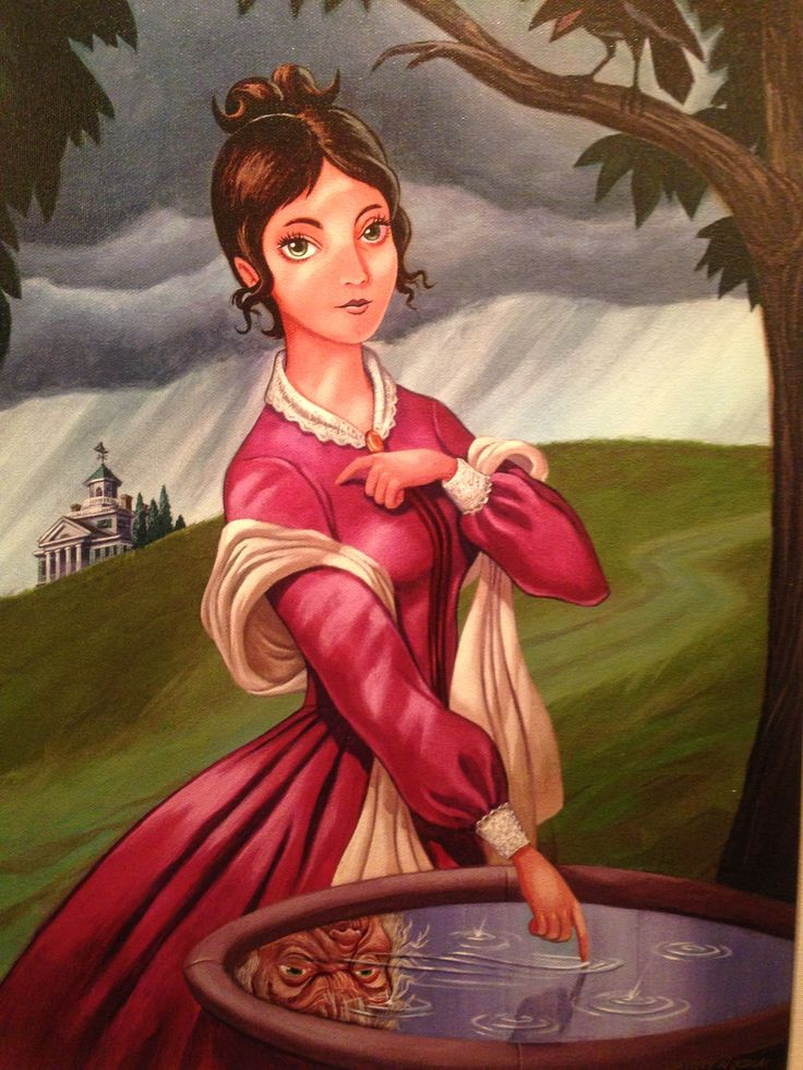 Disneyland - Haunted Mansion painting. My parents brought this one back for me after a trip in 2010.